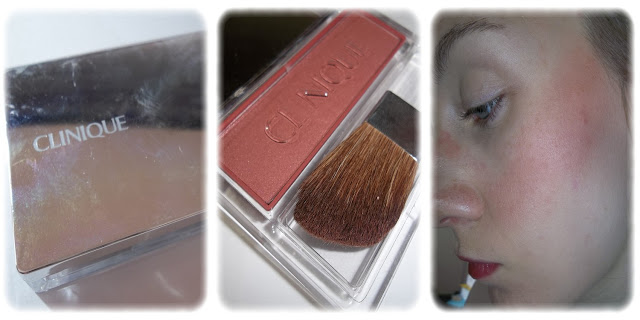 Swatch Blushing Blush Powder Teinte Sunset Glow - Clinique