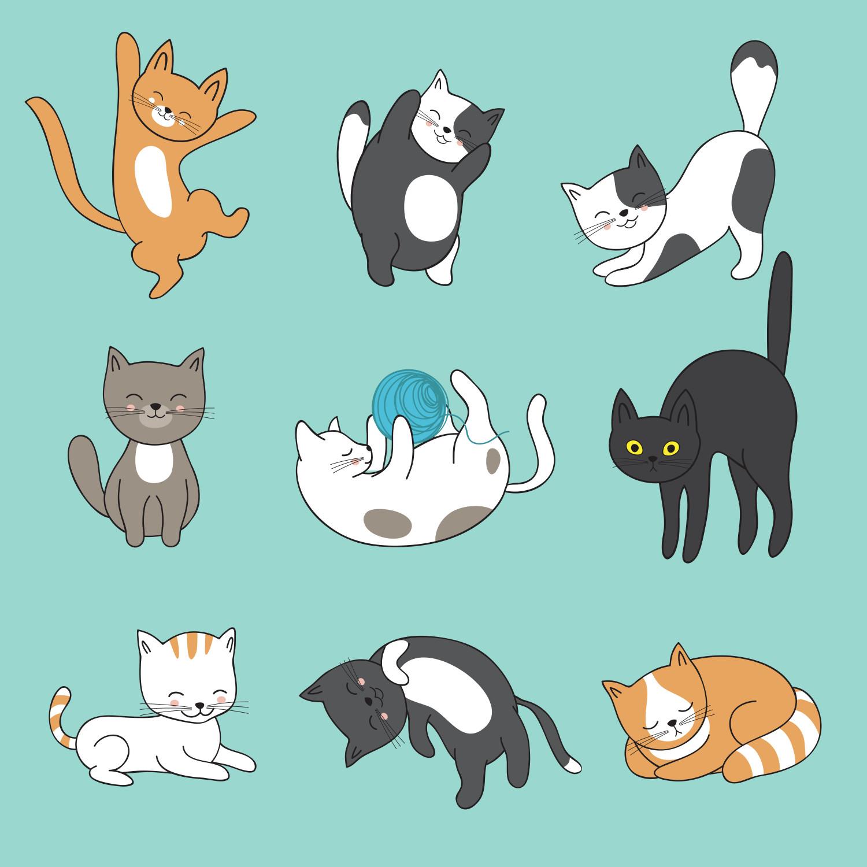 Gambar Kucing Kartun Lucu Imut Wwwtollebildcom