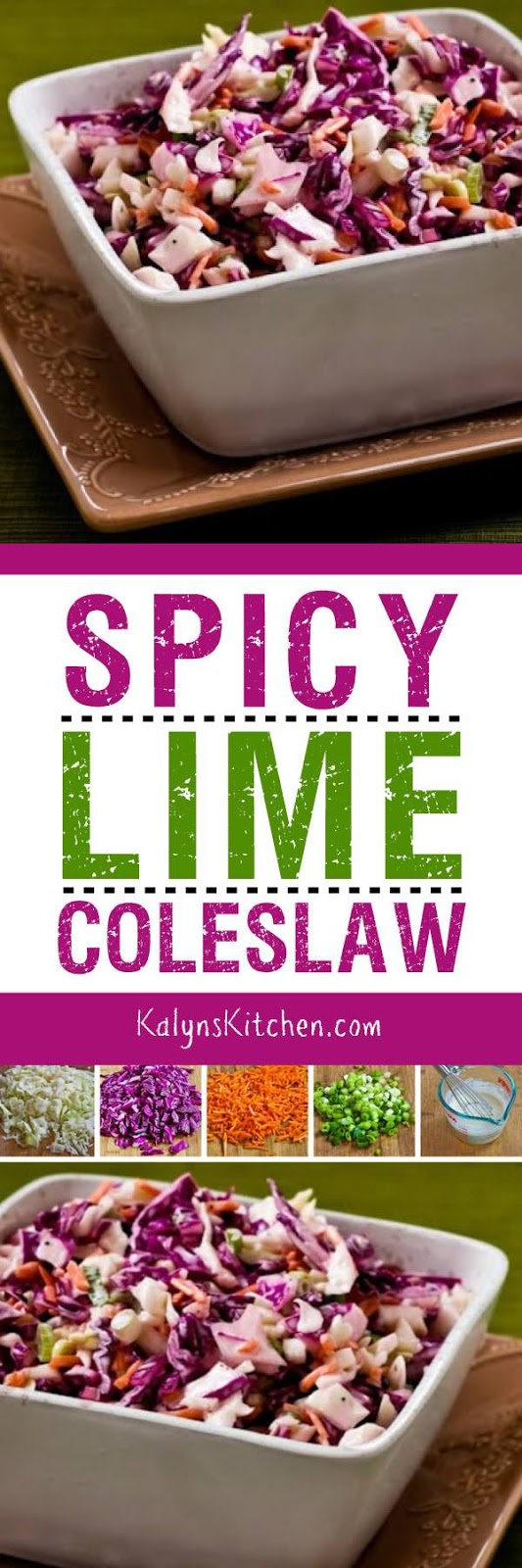 Spicy Lime Coleslaw - Kalyn's Kitchen