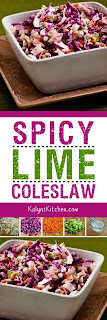Spicy Lime Coleslaw found on KalynsKitchen.com