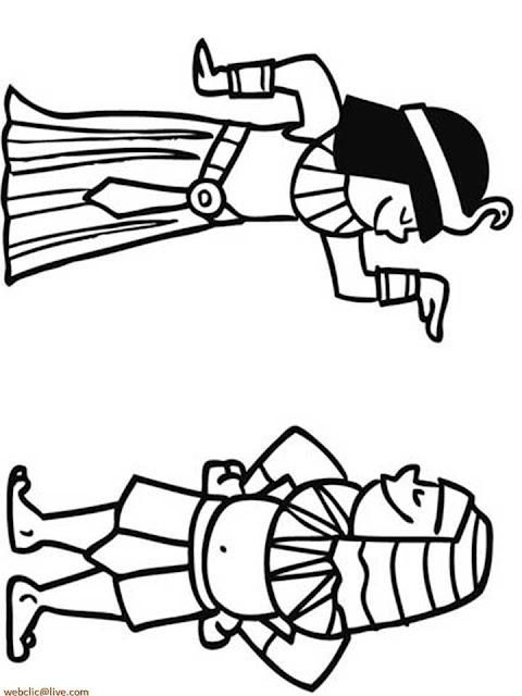 Egito Antigo para Colorir