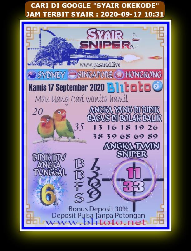 Kode syair Hongkong Kamis 17 September 2020 125