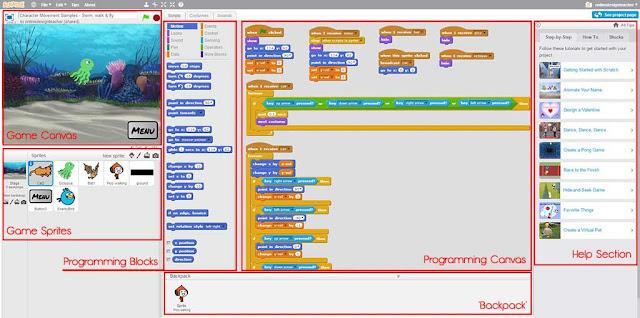 Scratch 2d game engine interface