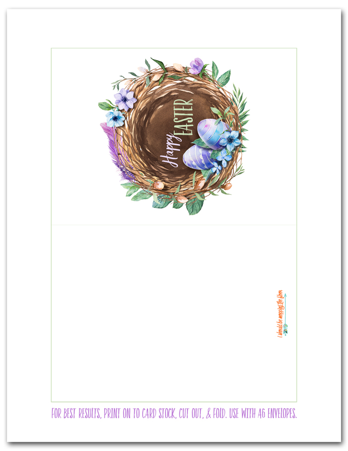 Easter Card Printable