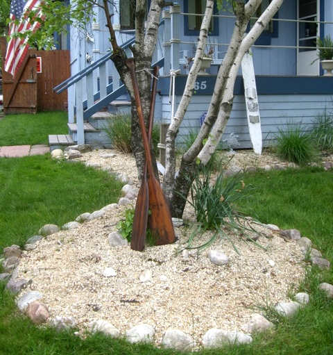 Nautical Garden & Landscaping Ideas from a Home that Goes ... on Nautical Backyard Ideas id=13979