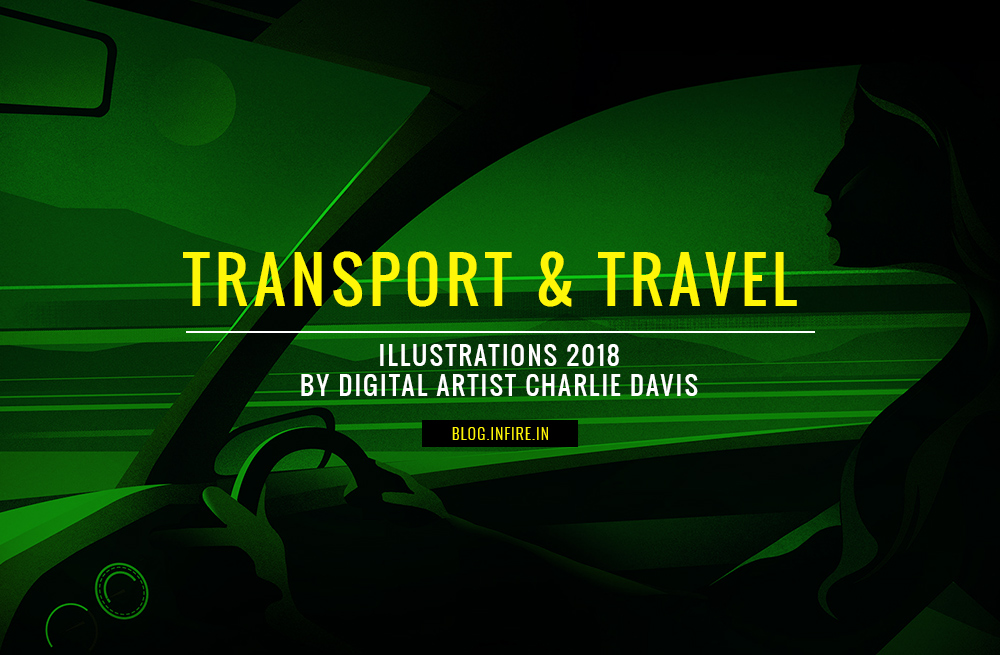 Transport & Travel Illustrations 2018 by Digital Artist Charlie Davis