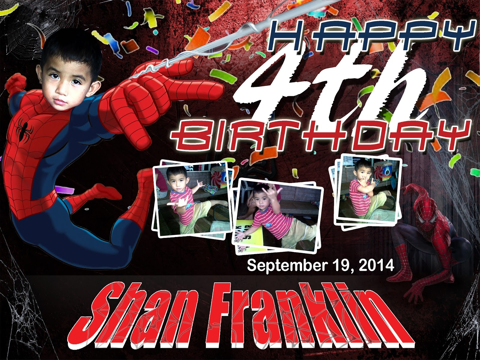 Birthday Tarpaulin Layout Spiderman Tarpaulin Background Blank