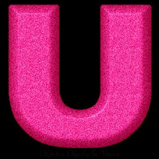 Abecedario Fucsia Texturizado. Fucsia Alphabet with Texture.