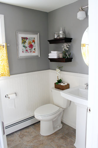 grey bathroom ideas it s just paper at home powder room renovation 31188