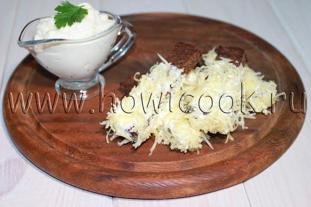 рецепт чесночных сухариков с пошаговыми фото