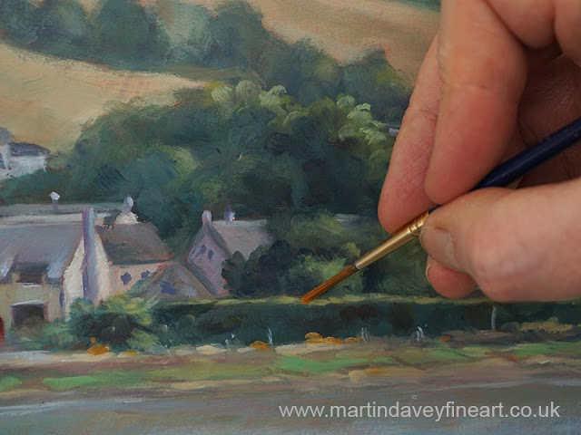 artist Martin Davey painting Devon river oil painting