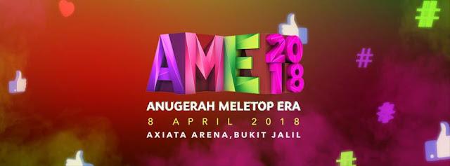 KEPUTUSAN PENUH ANUGERAH MELETOP ERA 2018, AME 2018,