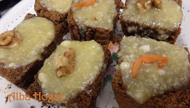 bizcocho de zanahoria y nueces alba hogar
