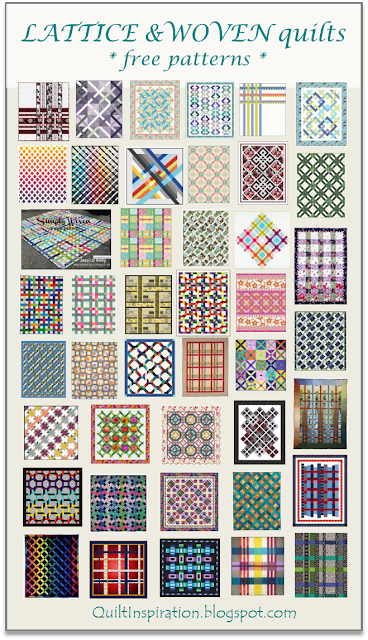 Quilt Inspiration: Free pattern day: Lattice and Woven quilts