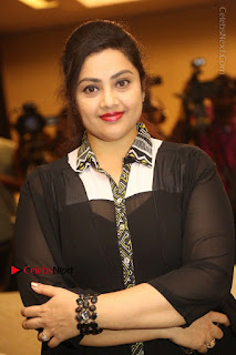 Tamil Actress Meena Latest Stills in Black Dress at TSR TV9 Awards Press Meet  0060.JPG