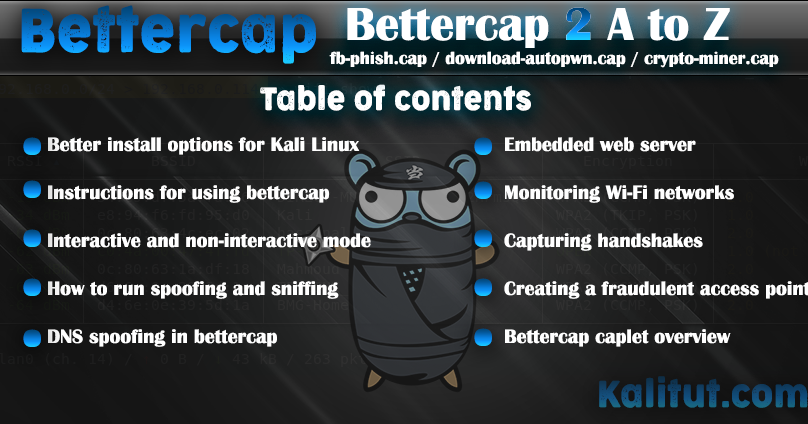 how to install and use bettercap 2 - KaliTut