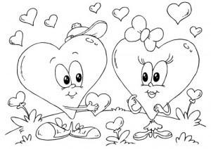Dibujos de amor para pintar y colorear