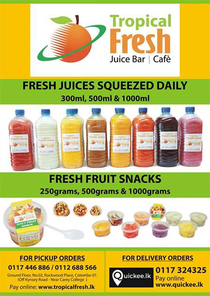 Tropical Fresh | Fresh Juices Squeezed Daily / Fresh Fruits Snacks