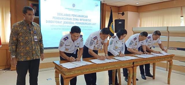 Ditjen Hubla dan 21 UPT Deklarasikan Kawasan Bebas Korupsi