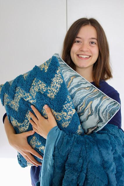Julian Charles Azure trend pillows throw
