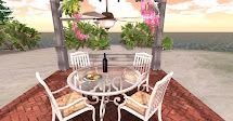 La Galleria White Wrought Iron Mesh Patio Dining Set