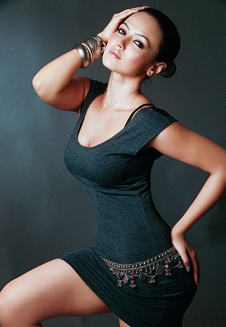 Swimsuit , Bikini Girls Sana Khan Beautiful Photos-3532
