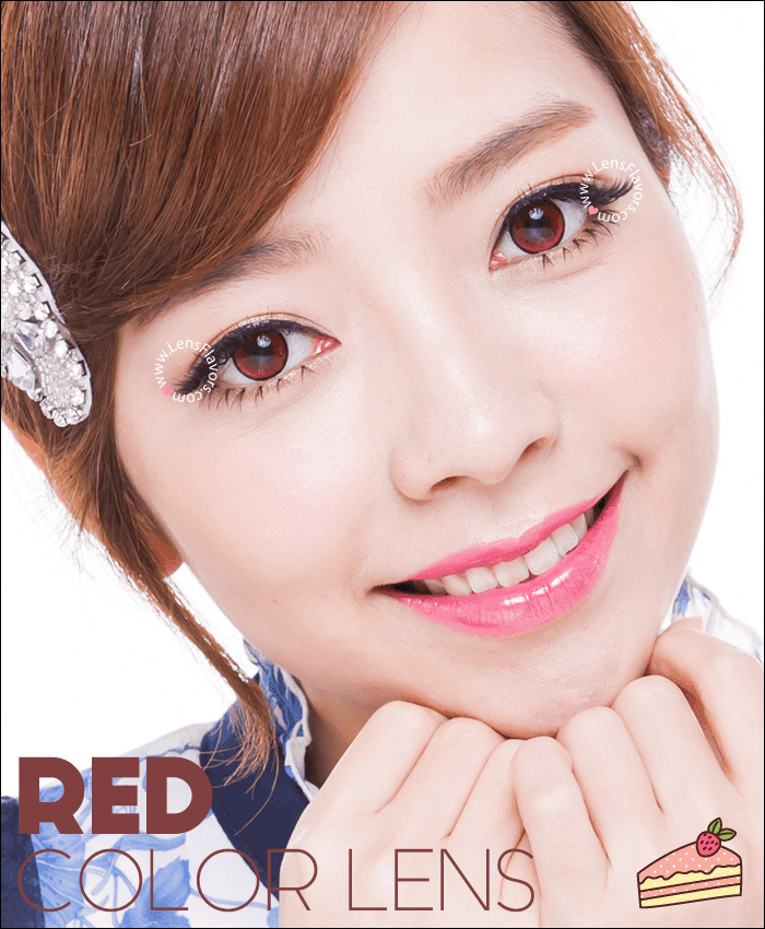 eos new adult red colored contacts