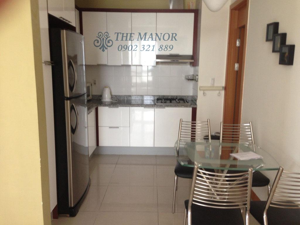Căn hộ The Manor 100m2 cho thuê block AW tầng 24 full nội thất - hình 6