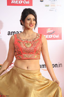 Harshika Ponnacha in orange blouuse brown skirt at Mirchi Music Awards South 2017 ~  Exclusive Celebrities Galleries 094.JPG