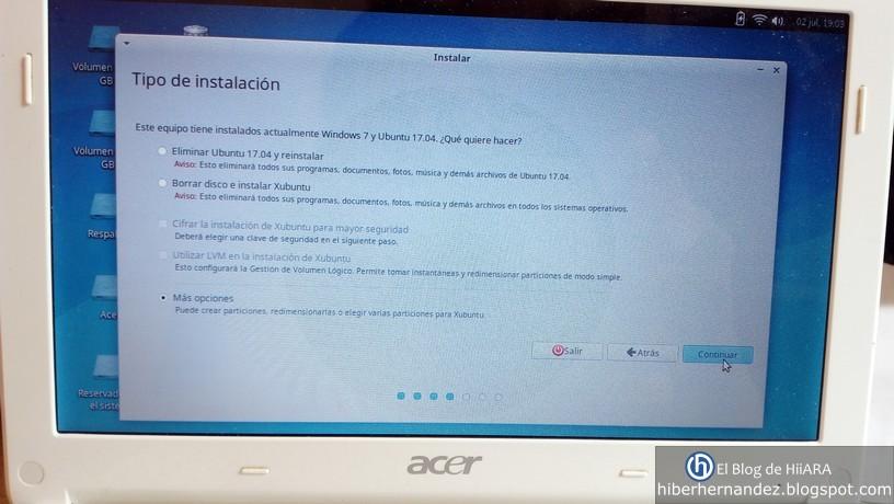 Tipo de instalación de Xubuntu 16.04 - El Blog de HiiARA