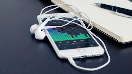 The Music Runs in My Phone's Earphones Public Domain