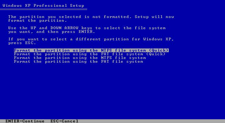 Cara Install Windows XP (Lengkap Dengan Gambar) 5