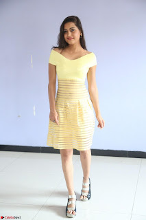 Shipra gaur in V Neck short Yellow Dress ~  071.JPG