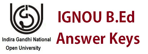 IGNOU BEd Answer Key Pdf Download Nursing Cut Off Answer Sheet
