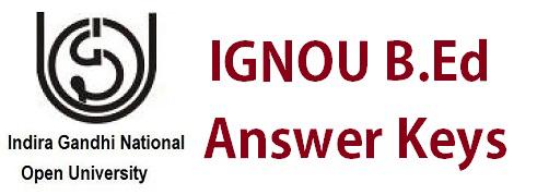 IGNOU BEd Answer Key Pdf Download Nursing Cut Off Answer Sheet