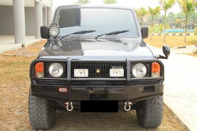Eksterior Chevrolet Trooper Lampu Bulat Tampak Depan