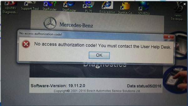 No-access-authorization-code