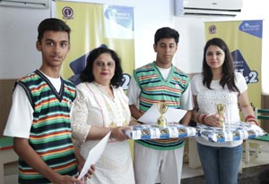 Students shortlisted for the next round with school officials
