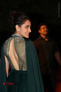 Actress Pragya Jaiswal Stills in Green Long Dress at Gemini TV Puraskaralu 2016 Event  0076.JPG