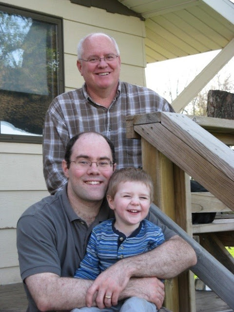 three generations: Bill, Will, William
