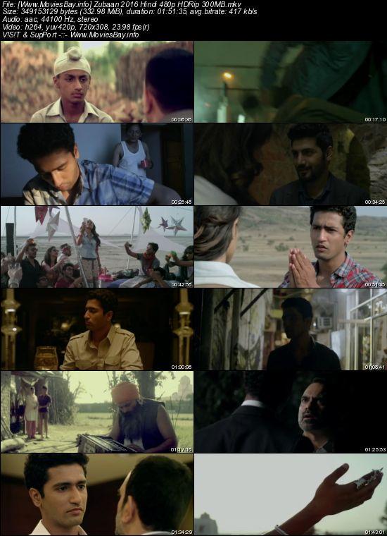 Zubaan 2016 Hindi 480p HDRip 300MB worldfree4u