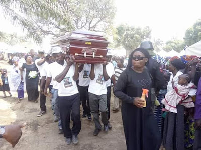 Photos from the burial of Taraba Lawmaker kidnapped and gruesomely murdered by his abductors after collecting N35million ransom