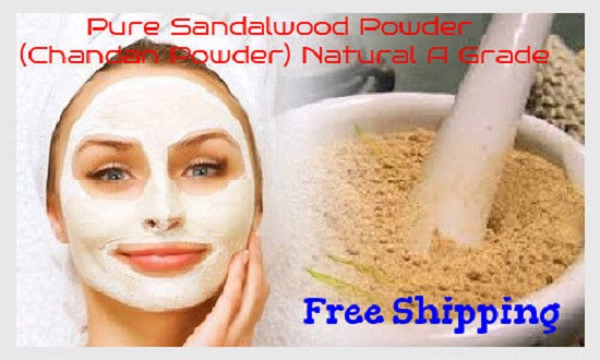 100% Pure Sandalwood Powder 100g (Chandan Powder) Natural 2018 Free Shipping A Grade