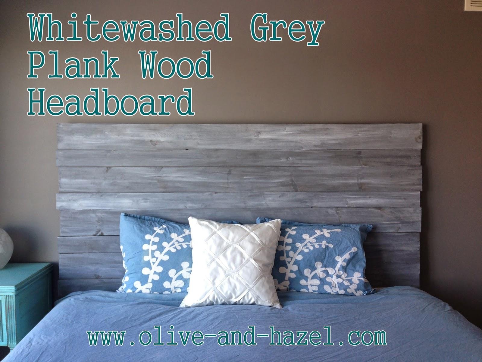 Whitewashed Grey King Headboard