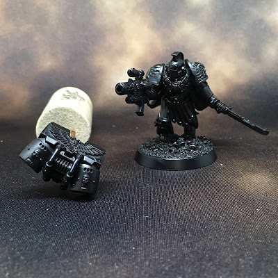 Deathwatch Watch Captain with Jump Pack WIP primed