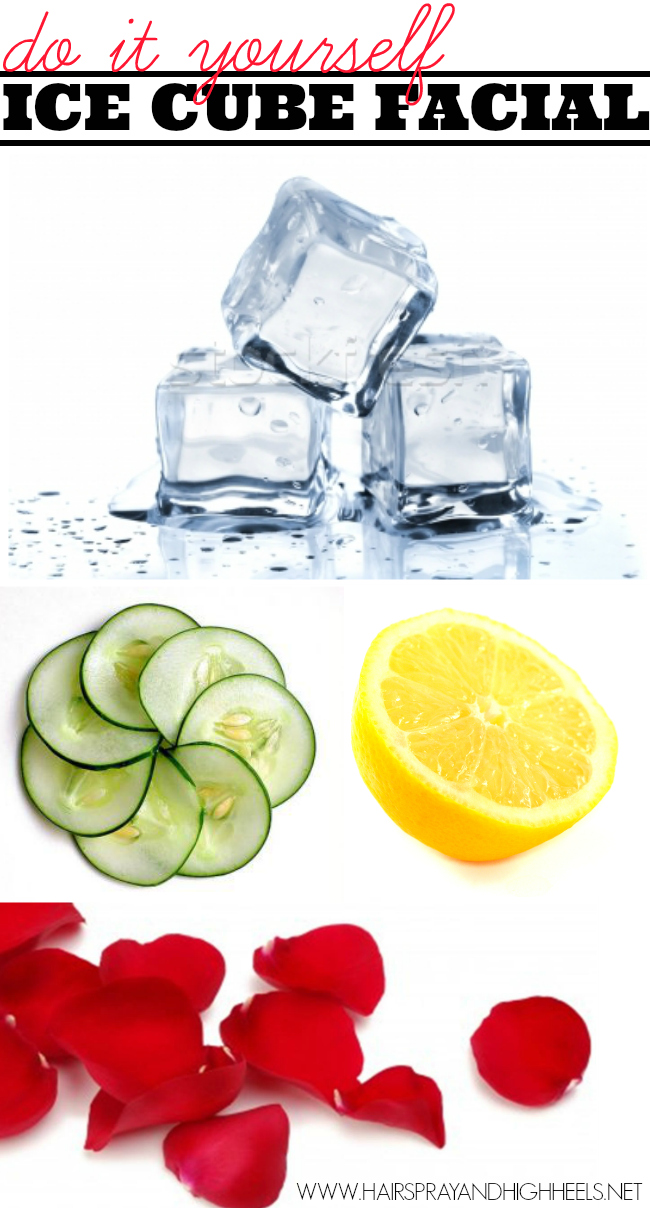 Do It Yourself Ice Cube Facial