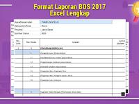 Format Laporan BOS 2017 Excel Lengkap