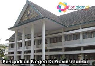 Alamat Kantor Pengadilan negeri Di Jambi