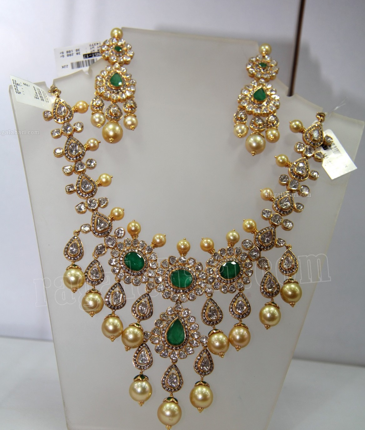 Heavy Uncut Diamond Necklace Jewellery Designs