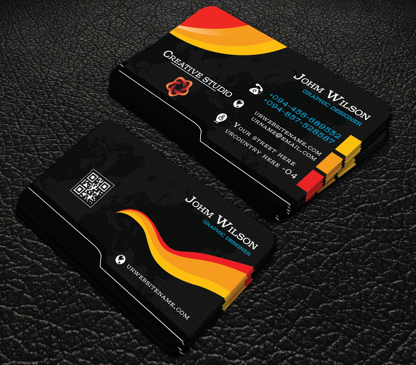 Free downlord professional black colour business cards free downlord professional black colour business cards this is a business card this template download contains 300 dpi print ready cmyk fbccfo Image collections